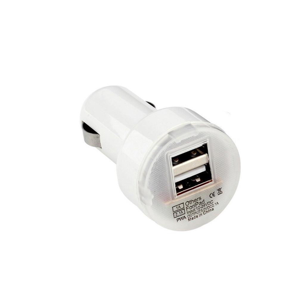 Автомобильное зарядное устройство PWA 2.1/10A , 2XUSB White (2)