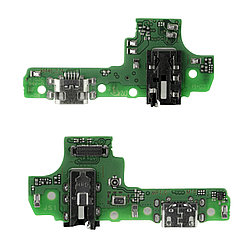 Нижняя плата Samsung Galaxy A10S с коннектором заряда и гарнитуры
