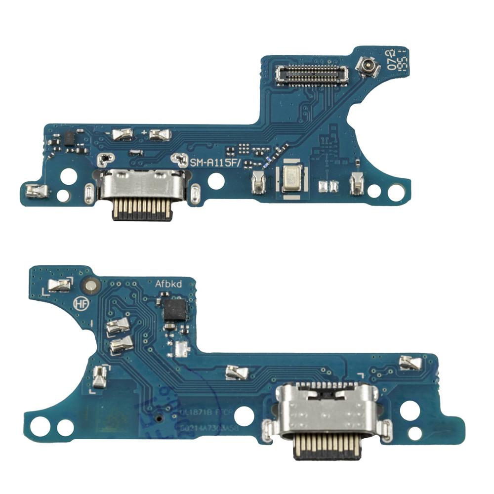 Нижняя плата Samsung Galaxy A11 A115 с коннектором заряда и гарнитуры