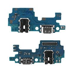 Нижняя плата Samsung Galaxy A21S A217 с коннектором заряда и гарнитуры