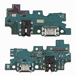 Нижняя плата Samsung Galaxy A30S с коннектором заряда и гарнитуры