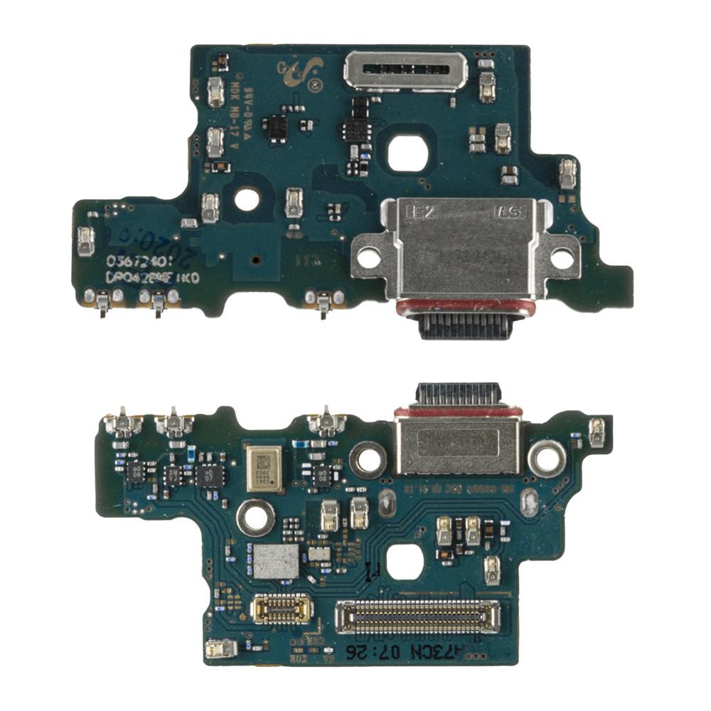 Нижняя плата Samsung Galaxy S20 Ultra G988 с коннектором заряда и гарнитуры
