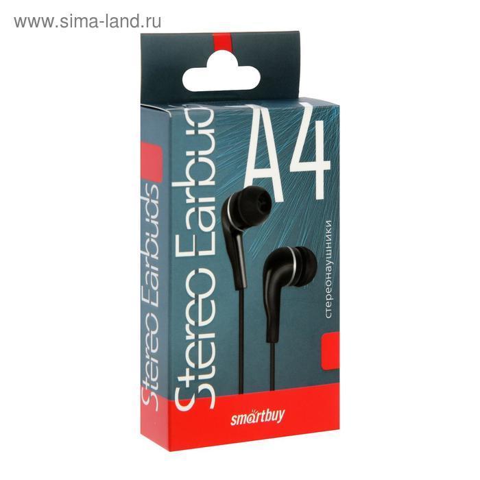 Наушники SmartBuy A4 SBE-011K, вакуумные, 95 дБ, 16 Ом, 3.5 мм, 1 м, черные - фото 2