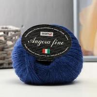 Пряжа 'Angora Fine' 50 мохер, 50 нейлон 300м/50гр (194027 т.синий)