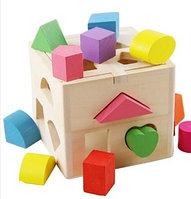 Детская игра Геометрический куб Монтессори