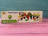 Детская игра Деревянный паровозик Монтессори