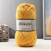 Пряжа 'Zeugma' 70 акрил, 30 шерсть 200м/100гр (Z-001 жёлтый)
