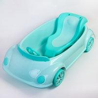 Ванночка детская с горкой и сливом, цвет зеленый