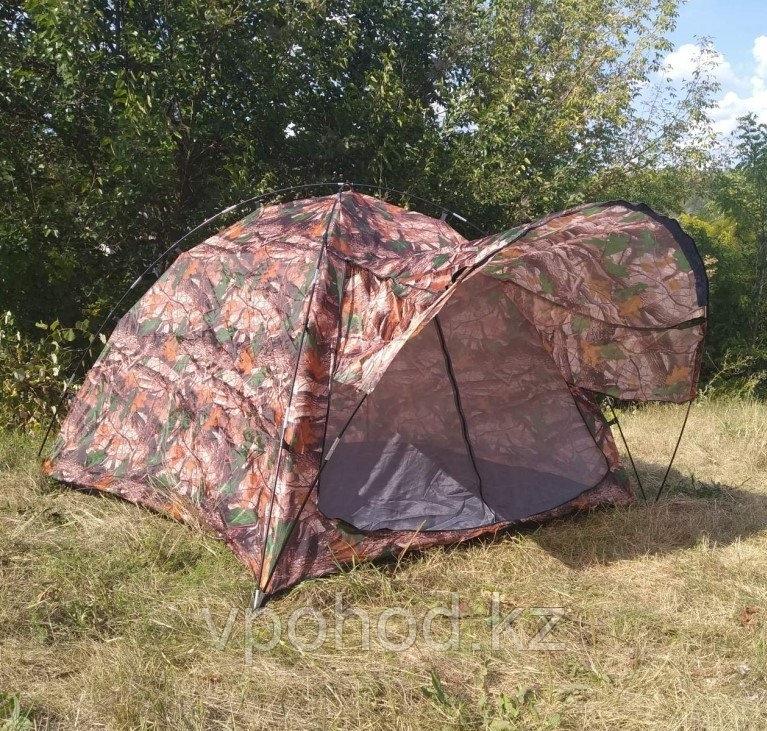 Палатка походная с козырьком 3х местная (200*200*135см)