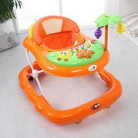 Ходунки 'Пальма', 7 силик. колес, муз., игрушки, оранжевый