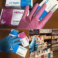 Medilex перчатки СИНИЙ, S