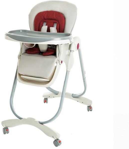 Стульчик  для кормления Teknum 168 красный-серый