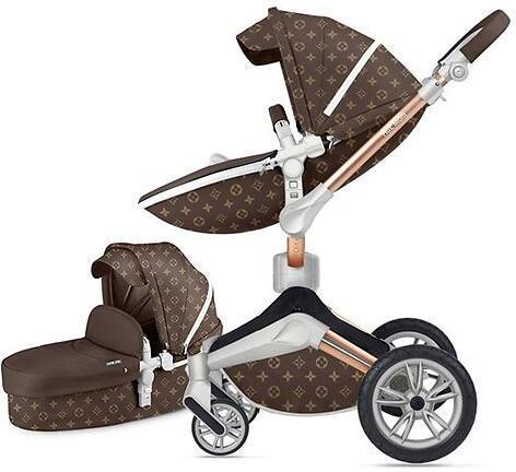 Коляска Hot Mom Louis Vuitton F22 2в1 коричневый