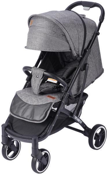 Коляска Dearest 818 Black Grey Premium Set серый