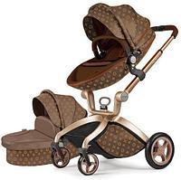 Коляска Hot Mom 2 в 1 Louis Vuitton F23 коричневый