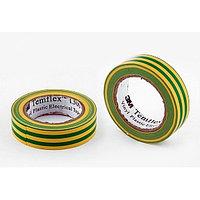 Изолента полимерная желто-зеленая 19мм*9,15м