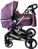 Коляска Belecoo 2в1 фиолетовый