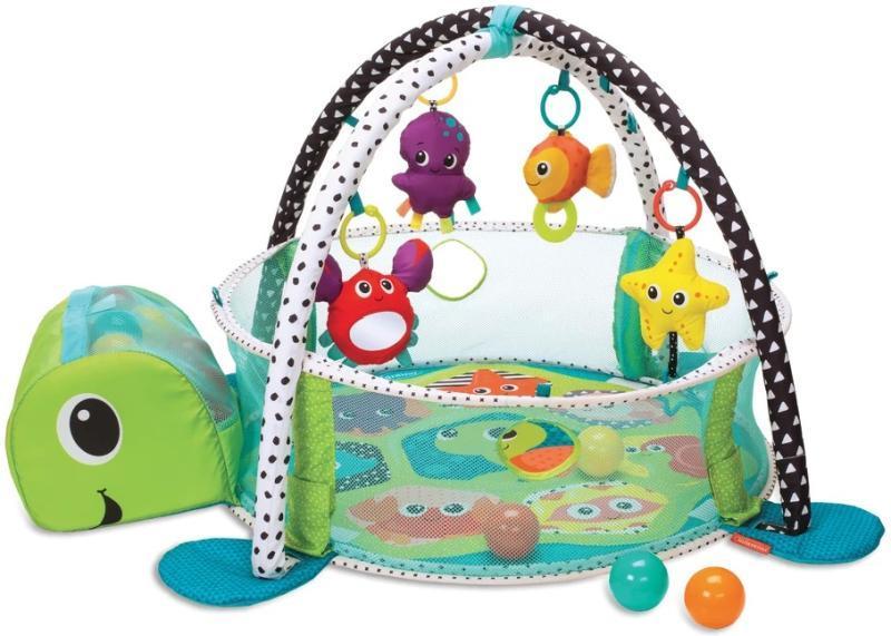 Игровой коврик Infantino Grow-With-Me Activity Gym&Ball Pit Turtle