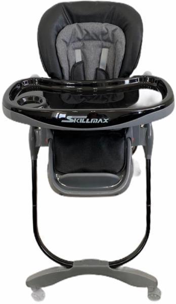 Стульчик  для кормления Skillmax черный-серый