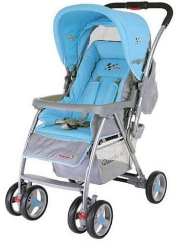 Коляска Quatro Caddy серый-синий