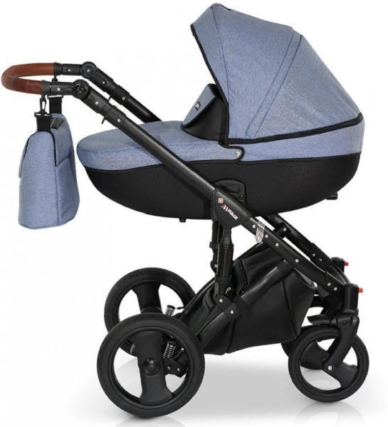 Коляска Verdi Mirage Eco Premium 3 в 1 синий-черный
