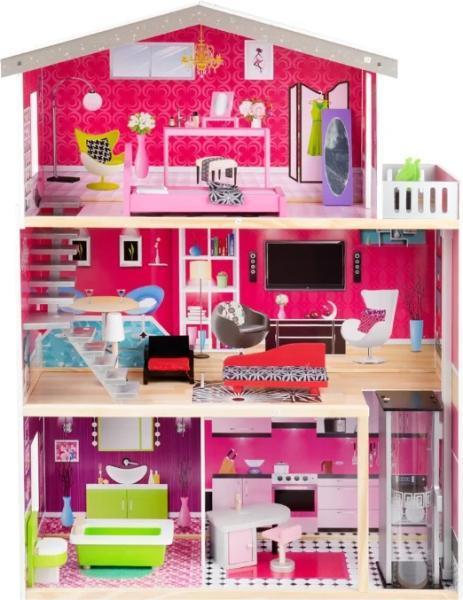 Набор игрушек Edufun Кукольный дом с мебелью EF4118