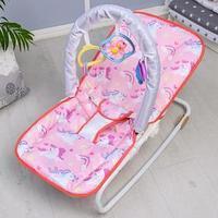 Шезлонг - качалка для новорождённых 'Волшебная пони', игровая дуга, игрушки МИКС