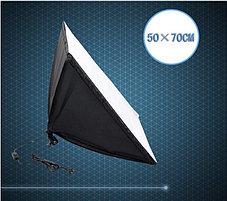 """Студийный софтбокс 50×70 на 1 лампу 85Ватт на стойке с Перекладиной """"журавль"""", фото 3"""