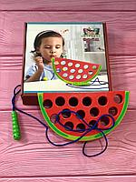 Детская игра шнуровка Набор «Яблочко»