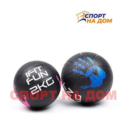 Медбол для фитнеса  на 2 кг (медицинский мяч), фото 2