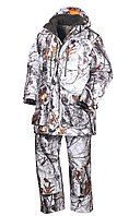Костюм мужской зимний ОКРУГ Снегоход -35°C (ткань алова, зимний лес), размер 48-50