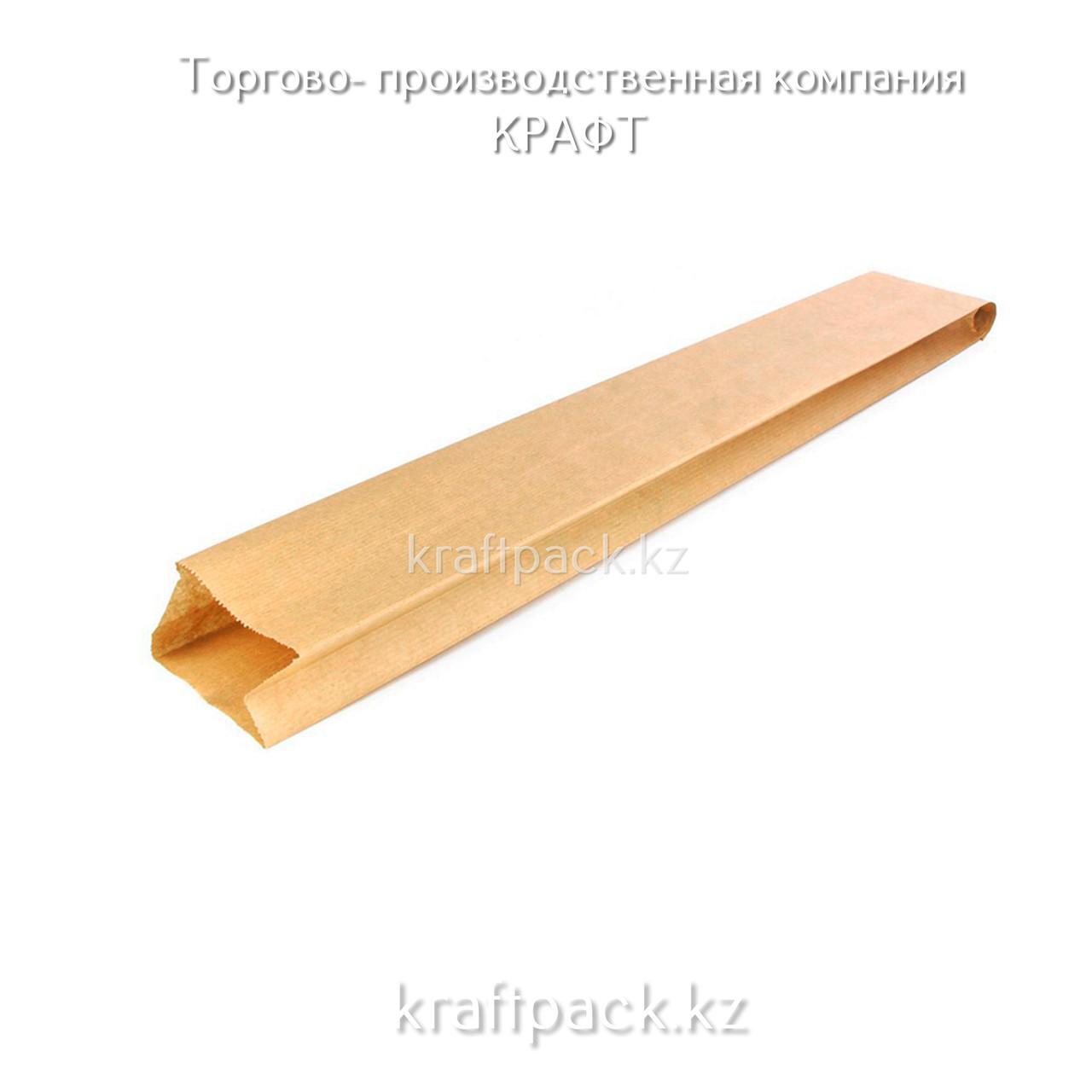 Пакет крафт с плоским дном 90*40*450 (1200шт/уп)