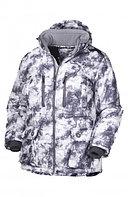 Куртка мужская зимняя ОКРУГ Охотник -20°C (ткань алова, кмф.белый), размер 58