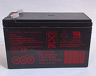 Аккумулятор WBR GP 1272 f2, напряжение 12 В и ёмкость 7,2 Ач