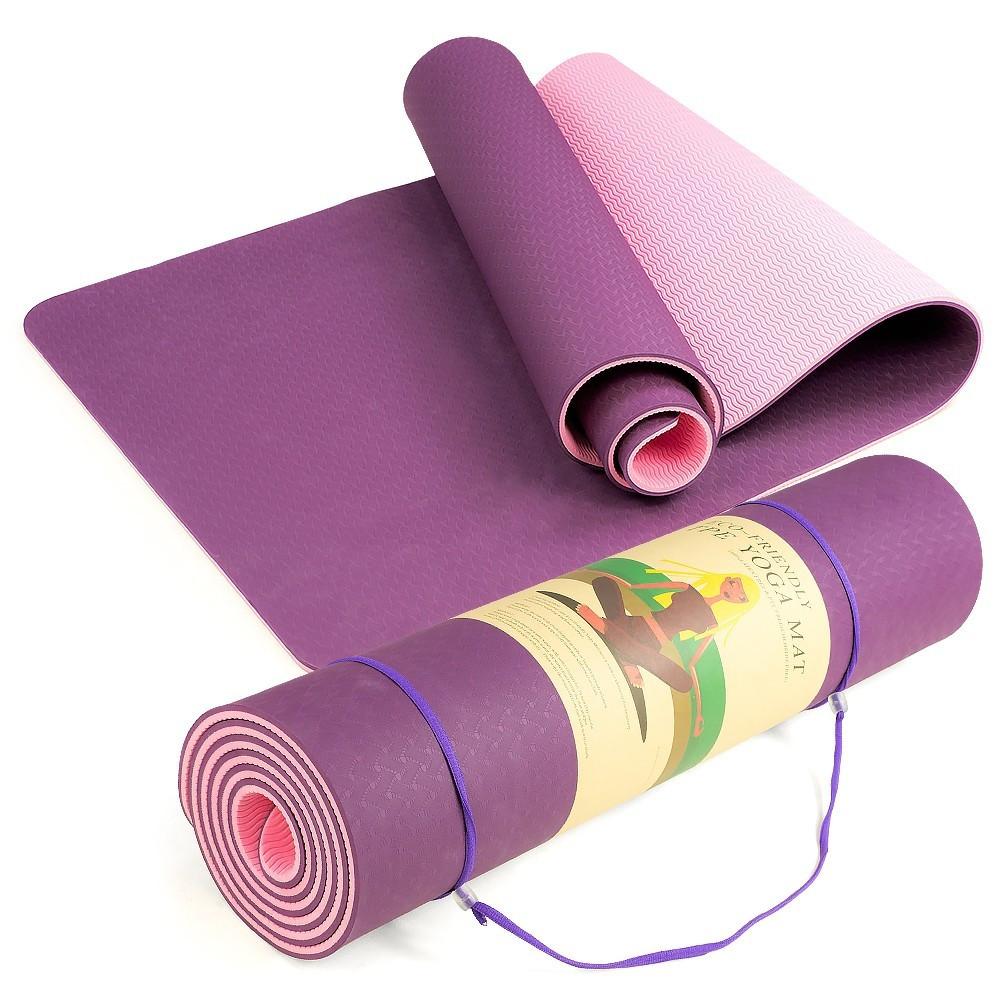 Коврик для йоги фиолетовый