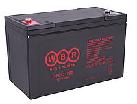 Аккумулятор WBR GPL 121200, напряжение 12 В и ёмкость 120 Ач
