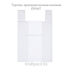 Пакет майка ПНД 30см+14смх60см белая - 100шт (30уп/кор)