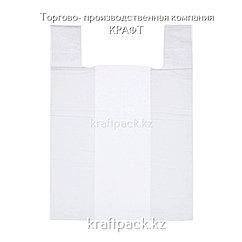 Пакет майка ПНД 40см+18смх70см белая - 100шт (15уп/кор)