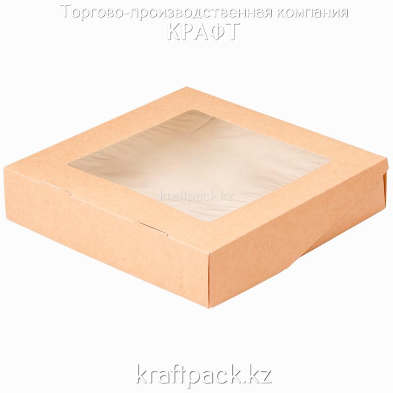 (ECO Tabox PRO 1555) Коробка с окном 200*200*55 DoEco (25/125)