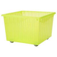 Ящик на колесах ВЕССЛА светло-зеленый 39x39 см ИКЕА, IKEA