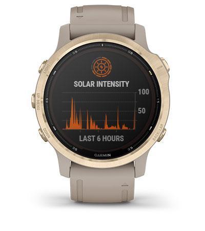 Часы Garmin Fenix 6S Pro Solar светлые
