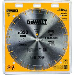 Алмазный круг сегментный универсальный DEWALT DT40213, 350 x 25.4, (кольцо 20 мм, в комплекте)