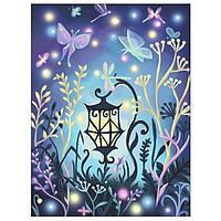 Картина стразами на холсте «Волшебный фонарь», 30*40см