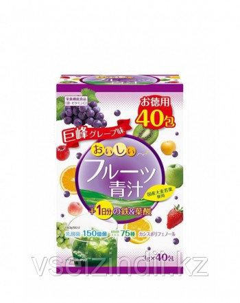 """Фруктовый Аодзиру с железом, фолиевой кислотой, молочнокислыми бактериями и витамином С """"Fruit Aojiru Iron & F"""