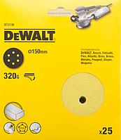 Шлифкруги DEWALT DT3138, 150 мм, 6 отверстий, 320G, 25 шт.