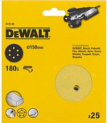 Шлифовальные круги DEWALT DT3136, 150 мм, 6 отверстий, 180G, 25 шт.