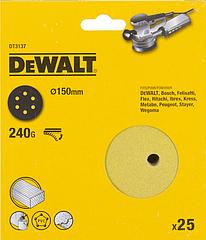 Шлифовальные круги DEWALT DT3137, 150 мм, 6 отверстий, 240G, 25 шт.