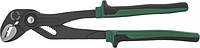 JONNESWAY P28212 Клещи переставные с реечной регулировкой и коробчатым захватом, двухкомпонентные рукоятки,