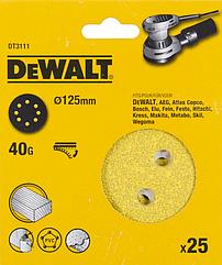 Шлифовальные круги DEWALT DT3111, 125 мм, 8 отверстий, 40G, 25 шт.