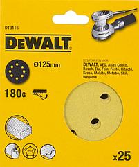 Шлифовальные круги DEWALT DT3116, 125 мм, 8 отверстий, 180G, 25 шт.